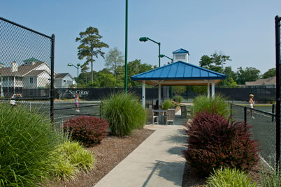 Sea Colony Tennis in Bethany Beach offers exceptional facilities and extraordinary landscaping.